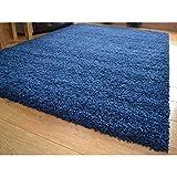 Shaggy Rugs - Super Soft Rug - Fluffy Rug - Living Room Rugs - Non Slip - Carpet Hallway Runner – Soft Funky Thick Long Pile Carpet - Indoor Modern Shag 60x110cm Navy Blue