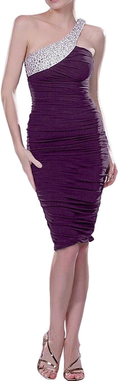 Avril Dress Sheath Knee Length Charmeuse Cocktail Homecoming Dress OneShoulder