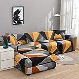 Fundas de sofá elásticas en Forma de L para Sala de Estar Necesita Comprar 2 Piezas de Funda de sofá para Muebles seccionales Funda de sofá elástica A32 2 plazas
