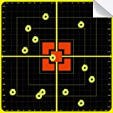 PISTEP Splatter Targets for Shooting 10 x10 Inch Reactive Targets Sight in Adhesive Target Stickers for BB Gun, Pellet Gun, Airsoft, Rifle Range Shooting Outdoor (20 Packs)