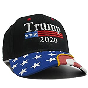 Military imagine Trump 2020 Black Cap US Flag Keep America Great hat President