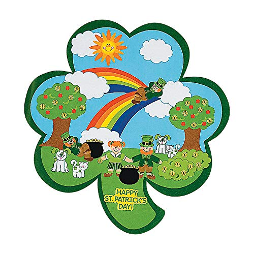 Fun Express Shamrock St. Patrick's Day Sticker Scenes (Makes 12)