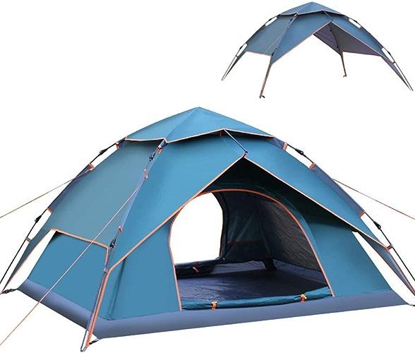 ALTINOVO Tente de Cadre extérieure à Double Porte, Facile à Utiliser Peut Vivre 3-4 Personnes Ventilé étanche Durable Convient pour Les Parcs, Les plages,vert