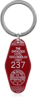 DEOLBA The Overlook Hotel 237 Logo Keychain Bates Motel Key Chains Twin Peaks The Great Northern Hotel Room 315 Keyring Jewelry Gift