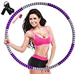 DOCOMIN Weighted Hula Hoop for Adult Weight Loss & Kids, Hoola Hoops Plus Size for Women Exercise & Fitness - Weight Adjustable 2lb ~ 5lb, 8 Detachable Sections,Premium Foam & Stainless Steel Core