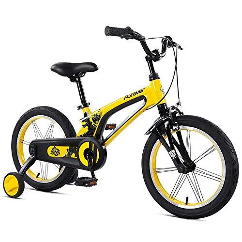 Axdwfd Kinderfiets, 16 inch, voor kinderen van 3-7 jaar, kinderfiets met trainingsfietsen, remmen tot coaster, 85% gemonteerd