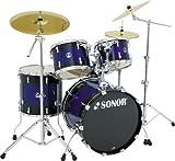 Sonor Force 3007 Studio 1 14x5.5 Snare, 10x8 Tom, 12x9 Tom, Hardware, Sunburst