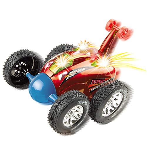 Coche de Control Remoto Top Race RC Cyclone Twister RC Coche de Acrobacias de Juguete para niños con Luces LED y Sonido Musical