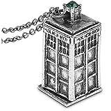 Collana con Ciondolo Cabina Polizia da Doctor Who colore Argento Gioiello Idea Regalo Festa Amore Amicizia