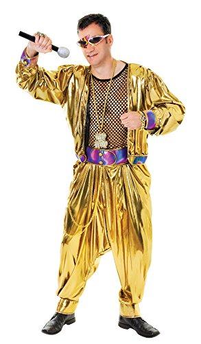 Bristol Novelty AC851 Video Super Star in den 80ern Kostüm, Schwarz, Mehrfarbig, 44-Inch