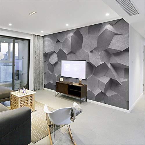 Papel Pintado Pared Autoadhesivo Hexágono geométrico Fotomurales Decorativos Pared 300 x 210 cm Espesar no Tejido Fabricado Fotomurales 3D papel pintado pared dormitorio Salon