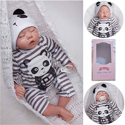 ZIYIUI Realistische Reborn Babys Puppen Junge 20 Zoll 50 cm Silikon Vinyl Lebensecht Augen Geschlossen Reborn Doll Mädchen Handgemachte Magnetismus Spielzeug Geschenke