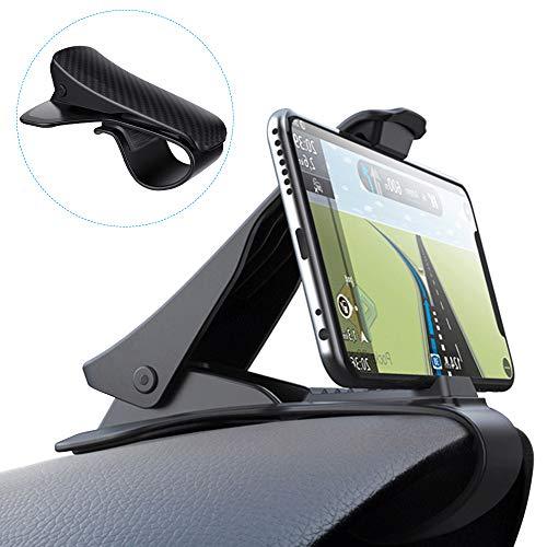 スマホ車載ホルダー クリップ式 Yblntek 車載ホルダー スマホホルダー HUD設計 安全運転 片手操作 着脱簡単 落下防止 6.5インチまで多機種対応 ダッシュボード デスクにも適用 ブラック