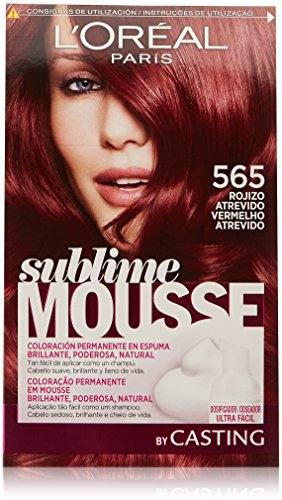 L\'Oréal Paris Sublime Mousse Coloración Permanente, Tono: 565 Rojizo Atrevido