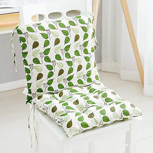 Kein Stuhl-1PC Stuhlkissen mit Rücksitz Rückenkissen mit Riemen Kissen mit niedriger Rückenlehne Gartenstuhl 40 x 40 cm (E)