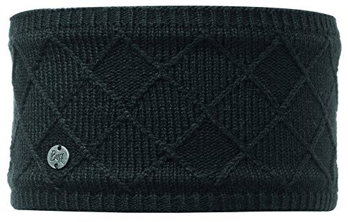 Buff Multifunktionstuch Knitted Polar Fleece Headband Écharpe Tube Multifonction Mixte, Stella Chic Black, Taille Unique