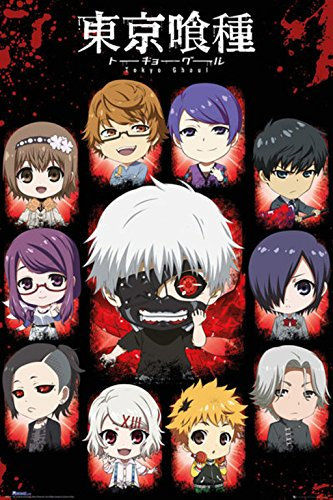 Grupo Erik Editores Tokyo Ghoul Chibi Characters Poster, 24-Inches x 36-Inches