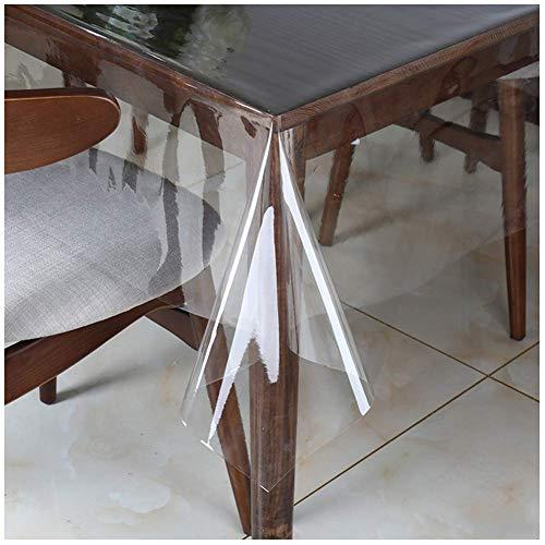 Emmevi - Mantel de cocina transparente - Antimanchas - Material PVC (plástico) - Mantel por metro - Altura 130 cm - A medida - modelo Kristal transparente S/C