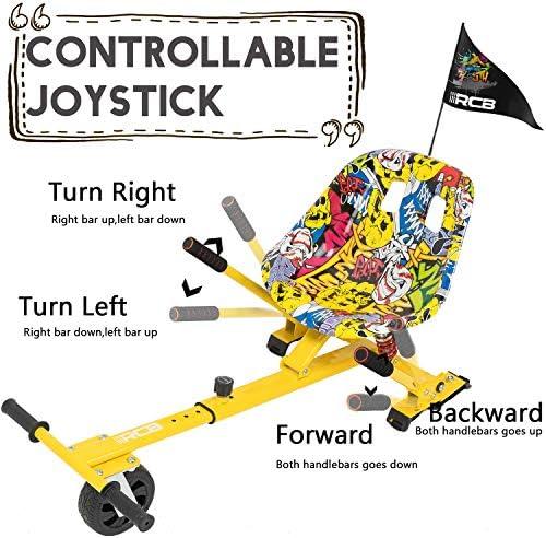RCB Hoverkart Anti-Choc pour Hoverboard Accessoire pour Gyropode 6.5/8/10 Pouces Siège Confortable Gokart Ajustable Karting Robuste