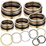 35 Pieces Metal O Ring Multi-Purpose Metal O Ring Non-Welded O Ring Round Metal Key Ring for Keychains Macrame Dog Leashes Camping Belt Hardware Bag Rings DIY Accessories, 5 Sizes (Colorful)