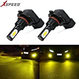 XSPEED 3200 Lumens Extremely Bright LED Fog Light Bulbs Latest Version CSP 3570-Chips JDM Gold Yellow use for Fog Lights H10/9140/9145