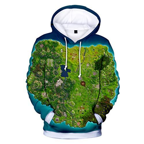 JIEFEIZHL Teen Girls Boys 3D Printed Unisex Pullover Hoodie Sweatshirts Asia L