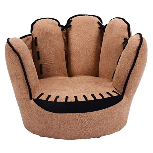 Kinder-Sofa Five Fingers Baseballhandschuh geformt Kinder Sofa Kinderstuhl Ordentlich Puff Haut Kleinkind Kinder Abdeckung for Sofa Kinder-Sofa (Color : Chocolate)