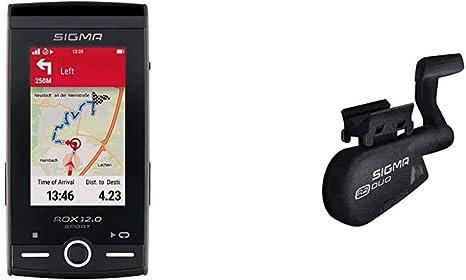 Sigma Sport Rox 12 0 Gps Fahrradcomputer Mit Kartennavigation Und Farbdisplay Grau Zubehör R2 Duo Speed Cadence Combo Sender Ant Bluetooth Smart Sport Freizeit