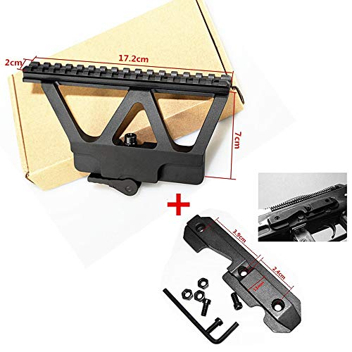 FIRECLUB Tactical CNC Picatinny CNC Side Scope Mount 20mm Weaver Black Quick Detachable
