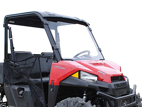 SuperATV Heavy Duty Scratch Resistant Full Windshield for Polaris MIDSIZE Ranger | 570/570 Crew/EV...