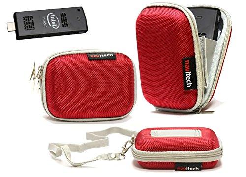 Navitech Rot hartes Wasser-beständiges Mini PC Tasche/Hülle für die Lenovo Ideacentre Stick 300 Mini