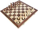 Conjunto de ajedrez Piedra Plegable de Placa de Piezas de Madera...