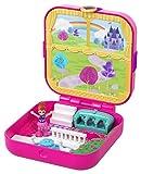 Polly Pocket Coffret Secret Le Château de Rêve de Lila avec mini-figurine, 3Surprises, accessoires et autocollants, jouet enfant, GDK80