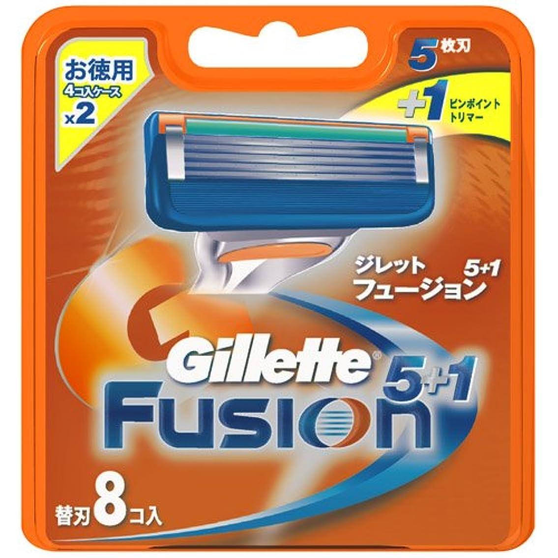 最近下品スキームジレット フュージョン5+1 専用替刃 8B