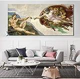 WHMQJQ Poster Sixtinische Kapelle Decke Gott erstellt Adam