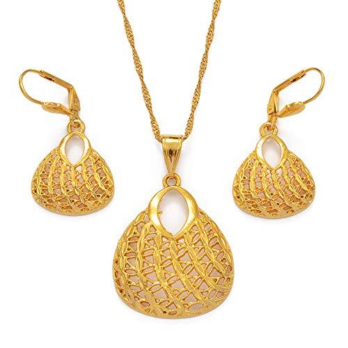 DADATU Oro Color Colgante Collares Y Pendientes para Las Mujeres Árabe/Africano Moda PNG Joyería Cumpleaños/Banquete Regalos