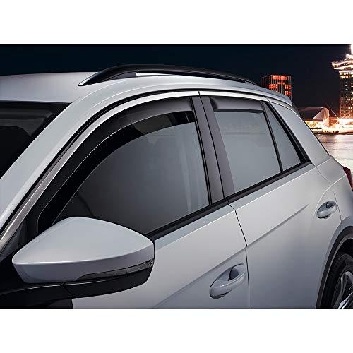 Volkswagen 2GA072193 - Deflettori d\'Aria 2 x deflettori Antipioggia Anteriori, Colore: Grigio Fumo