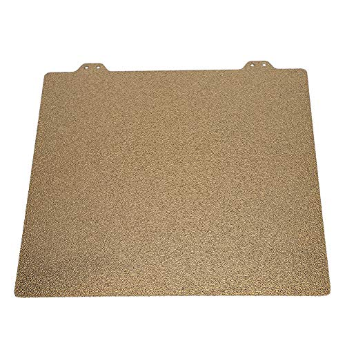 Wendry 3D Printer Build Surface Heated Bed, Gold Professional Double-Sided Textured PEI Powder 220mm Steel Sheet + 6 Magnetic Block for 3D Printer Hot Bed