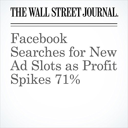 Facebook Searches for New Ad Slots as Profit Spikes 71% copertina
