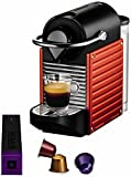 Nespresso Pixie Red YY1202 Krups - Cafetera monodosis (19 bares, Apagado automático, Sistema...