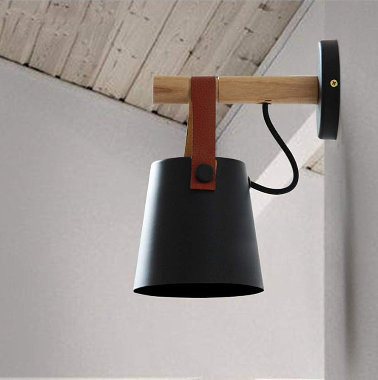 ZNDDNB Led Wall Wash Lights Wandlampen Creative Nordic Aluminium Gürtel Modern Indoor Flur Nachttischlampe 110 220 V (Birne Nicht Im Lieferumfang Enthalten), Schwarz