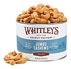 Jumbo Salted Cashews - The Gourmet's Choice Jumbo refers to the size of the cashews specially selected, prepared, and packaged in our gourmet products. Please Note that cashews frequently break in transit. Delivery to the customer involves multiple v...
