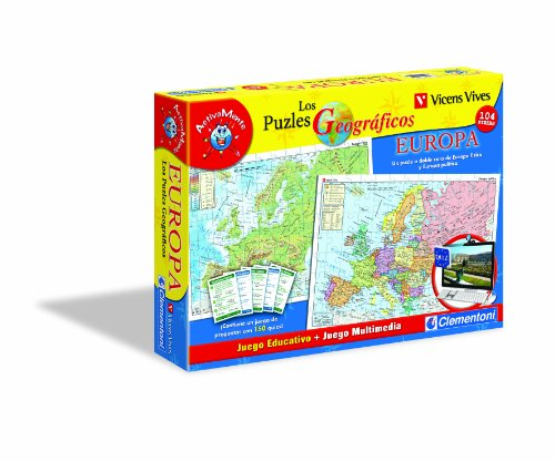 Clementoni- Puzzle Geografico Europa-Vicens Vives