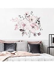 Hungryme Romántico Rosa Flores Pared Desmontable DIY Decorativos Adhesivos para Sala De Estar Dormitorio