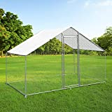 Walk In Chicken Run Cage Coop 4m x 2m x 2m Dog Pen House Kennel Large Metal Enclosure Rabbits Ducks Poultry Roof Cover Shelter Sunshade Pets Outdoor Backyard Farm Animal