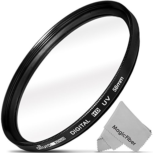 58mm Altura Photo UV Ultraviolet Lens Filter for Canon Rebel T6i T6s T5i T4i T3i T3 T2i T1i XT XTi XSi SL1, EOS 700D 650D 600D 1100D 550D 500D 100D