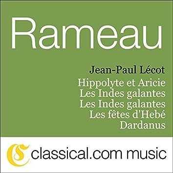 Jean-Philippe Rameau, Hippolyte Et Aricie