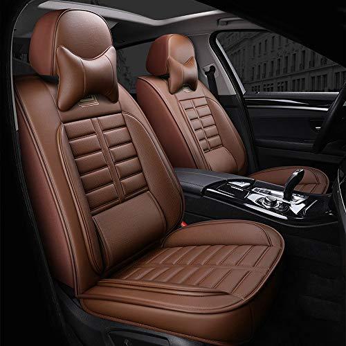 AXZT universele stoelhoes voor voor- en achterbank, beschermhoes, interieur 5-zits, airbag, compatibel, bruin