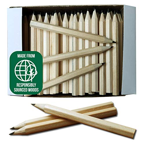 Pack of 288 (2 x 144) Small Half Size Wooden HB Hexagonal Pencils -...