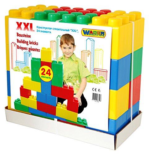 Wader 10555 - Bausteinblock XXL, 24 Stück